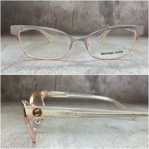Michael Kors Butterfly Rose Gold Eyeglasses NWOT
